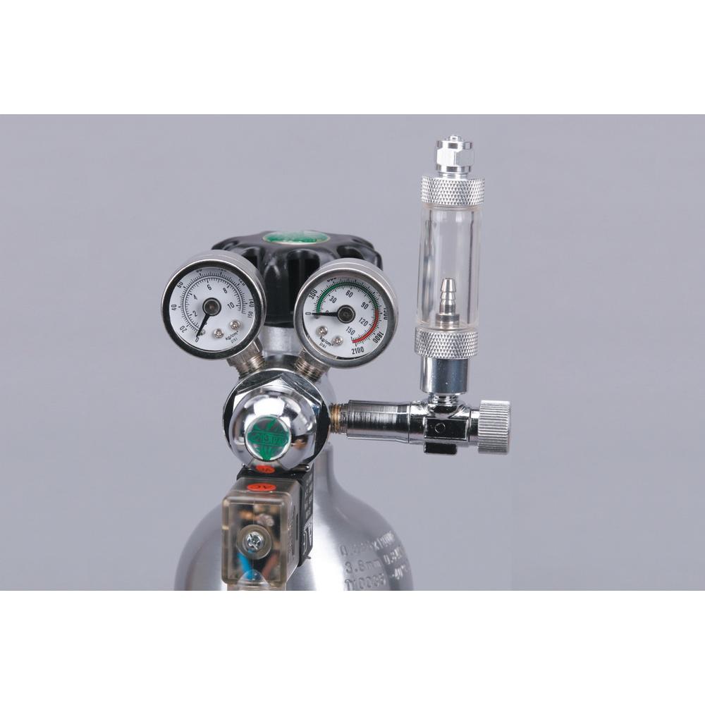Редуктор СО2 с электромагнитным клапаном, счетчиком пузырьков и обратным клапаном