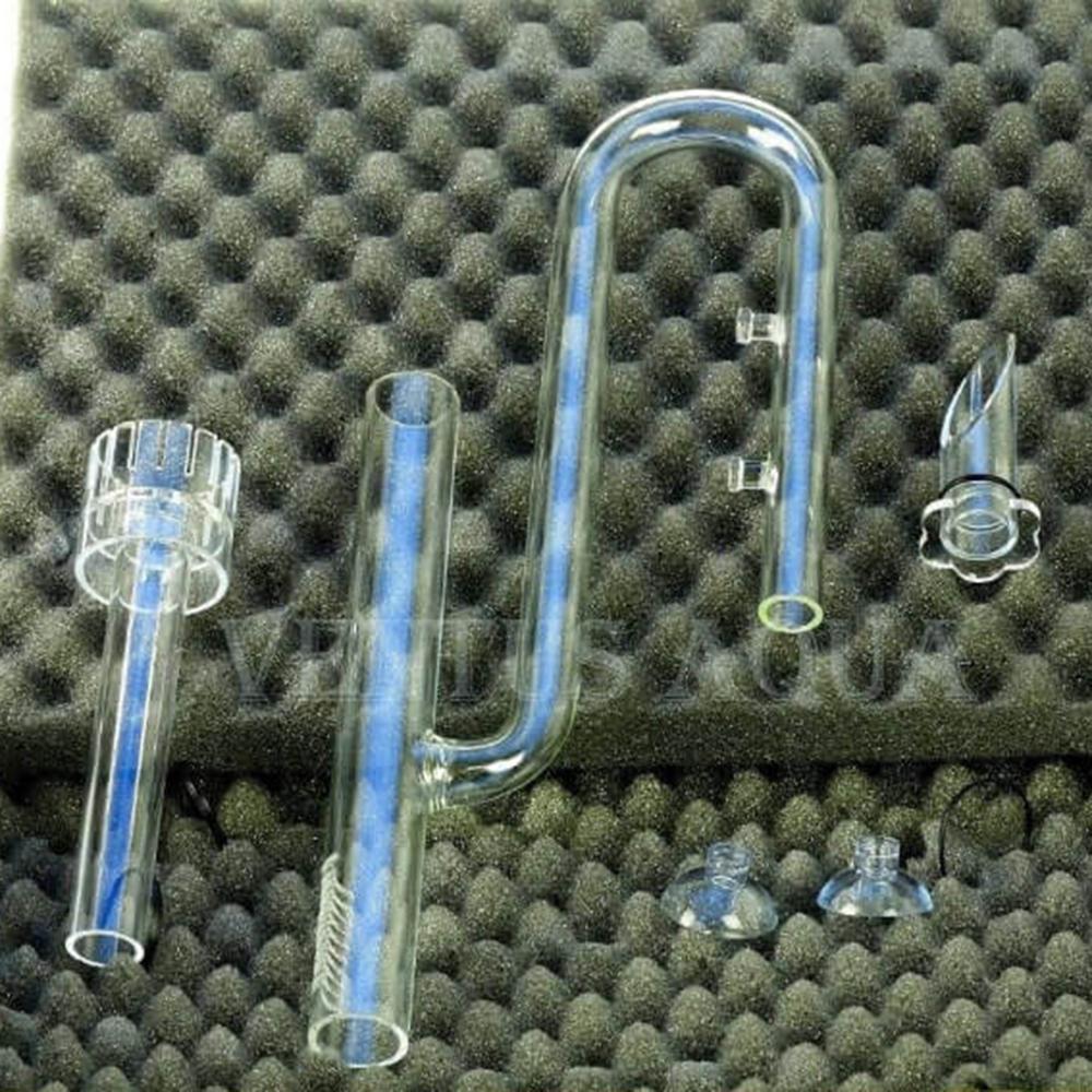 Заборник воды стеклянный совмещенный со скиммером для внешних фильтров 16 мм