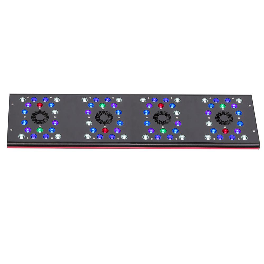 Светильник светодиодный  IT 5080 полноспектральный  220Вт, 3-5втx72,6-ти канальный, 80x21.5х2.5см, на аквариум 84-120см.