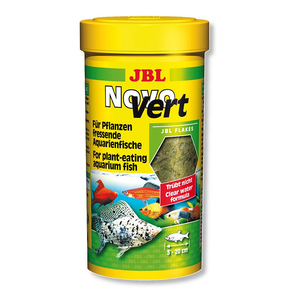 Корм для рыб JBL Novo Vert со спирулиной и планктоном, 250мл