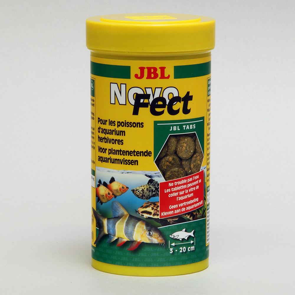 Корм для рыб JBL Novo Fect в форме таблеток для растительноядных рыб, 250мл