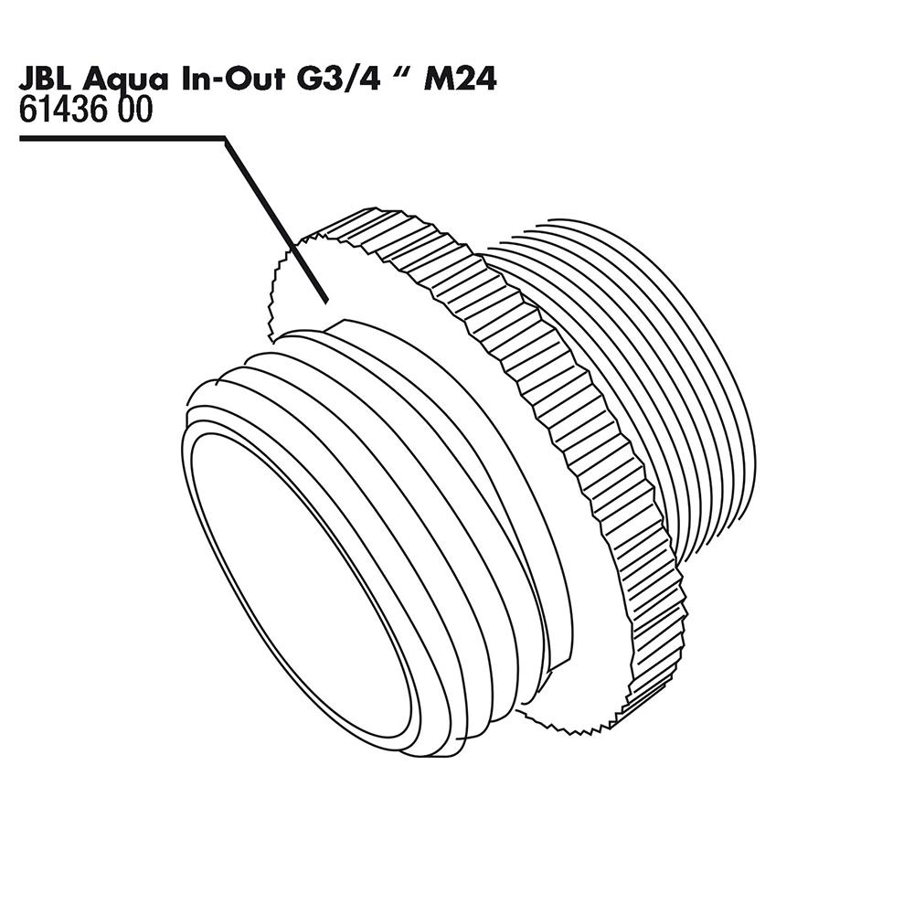 Переходник JBL Aqua In-Out Metall Adapter G3/4 M24 металлический с резьбы G3/4 на M24