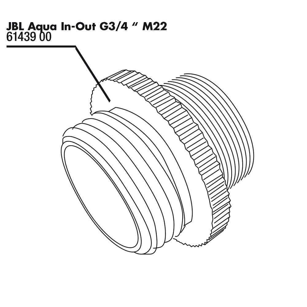 Переходник JBL Aqua In-Out Metall Adapter G3/4 M28/M22