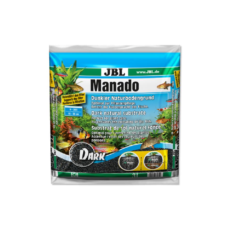 Субстрат JBL MANADO темный натуральный для аквариума 3 л