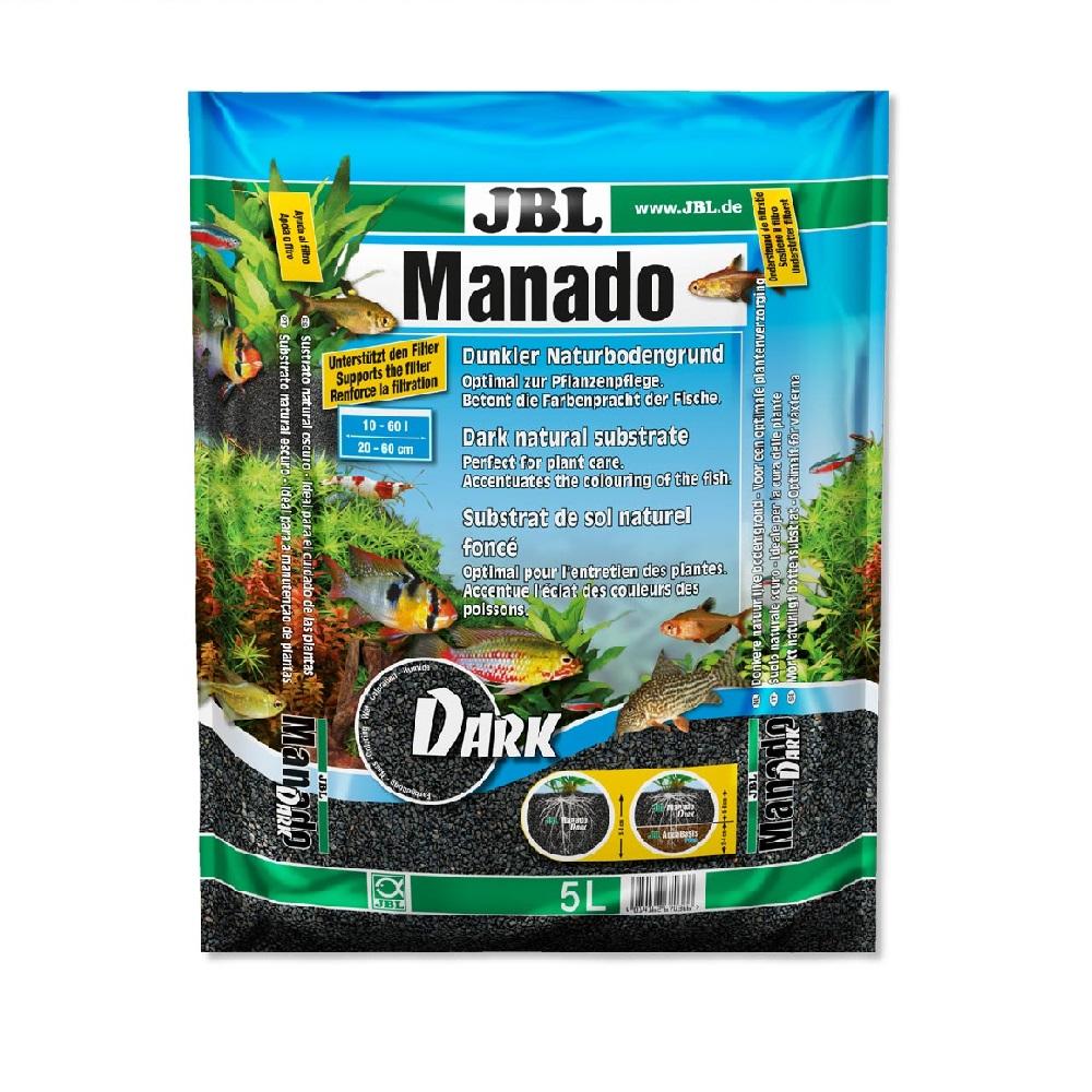 Субстрат JBL MANADO темный натуральный для аквариума 5 л