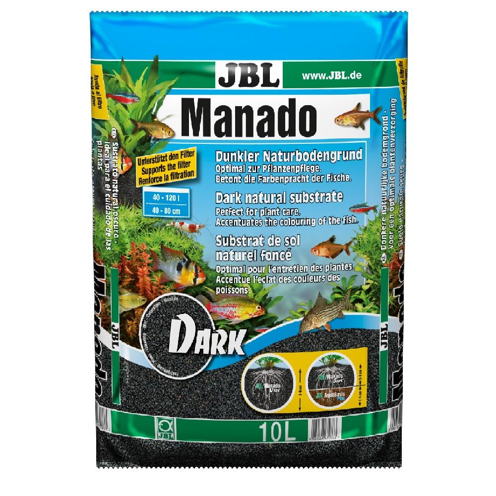 Субстрат JBL MANADO темный натуральный для аквариума 10 л