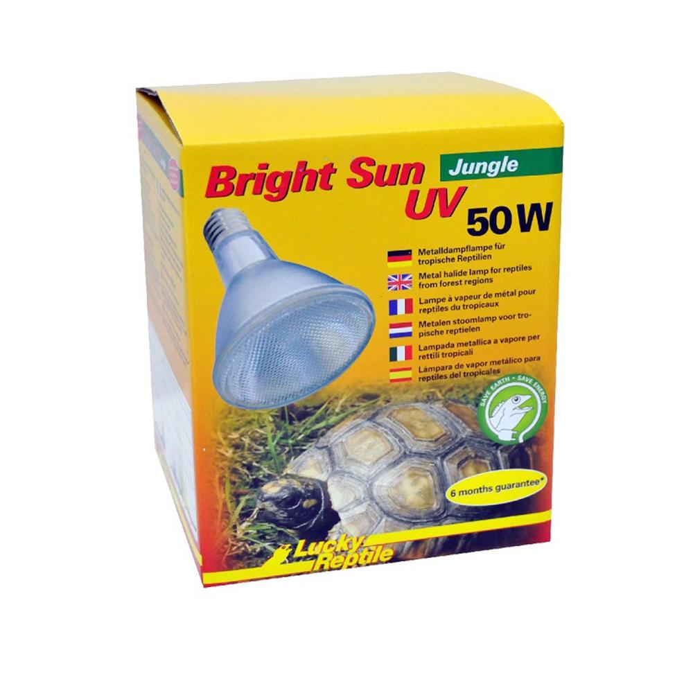 Лампа Lucky Reptile МГ Bright Sun UV Jungle 50Вт, цоколь Е27