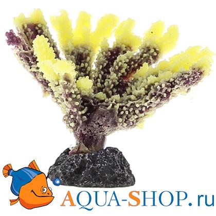 Коралл пластиковый желтый  9,5x5,8x7см