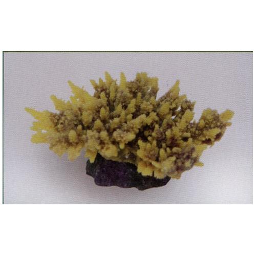 Коралл пластиковый желто-коричневый 14х11,5х6 см