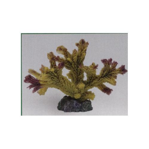 Коралл пластиковый желто-коричневый 17*9*13 см