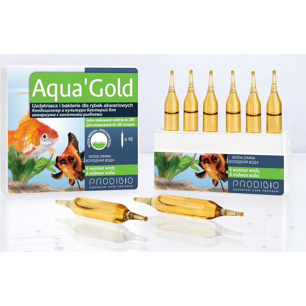 Кондиционер и бактериальная культура  для золотых рыбок Aqua Gold