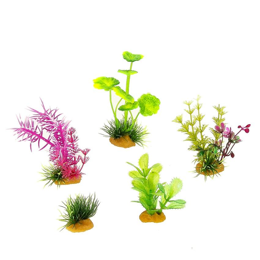 Набор пластиковых растений PRIME 5 шт 70603