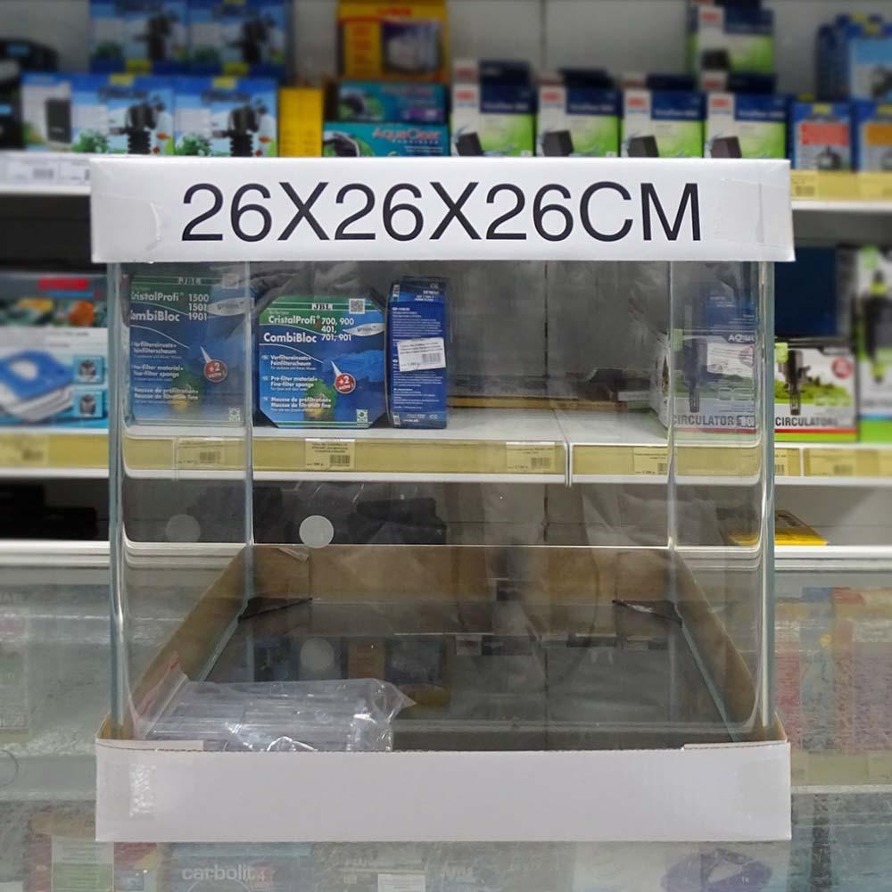 Аквариум PRIME из набора 17 л (стекло OptiWhite ) 260*260*262 мм