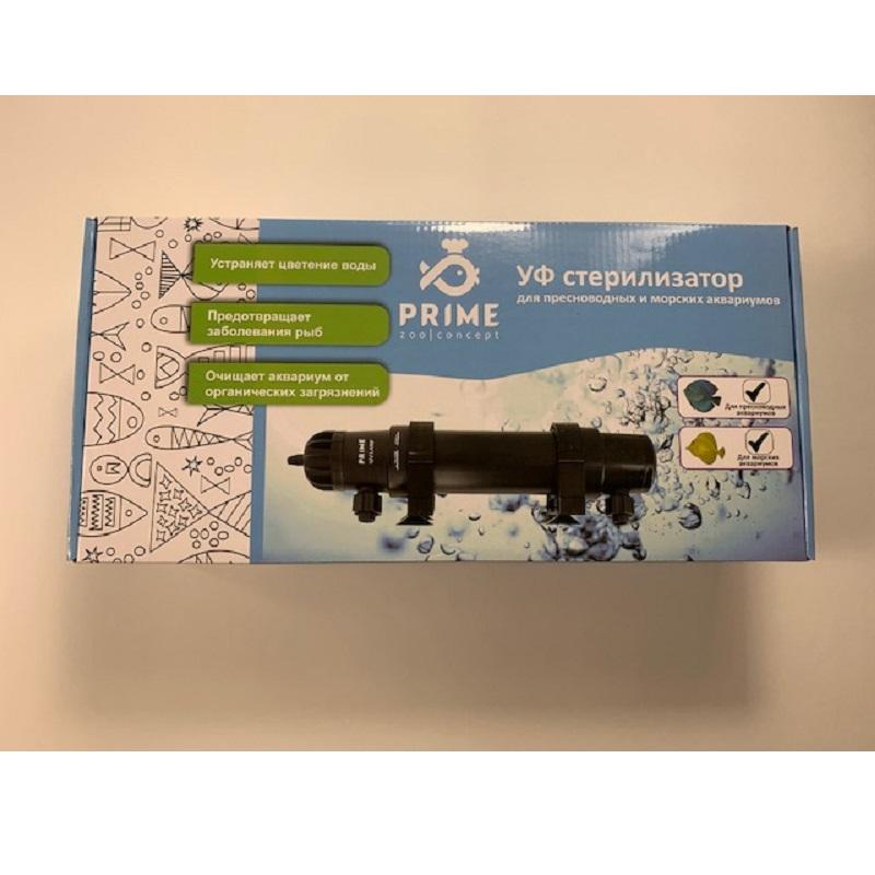 Стерилизатор УФ Prime 9BT для аквариумов до 450 л, кабель 5 м, вход/выход от 10 до 19 мм