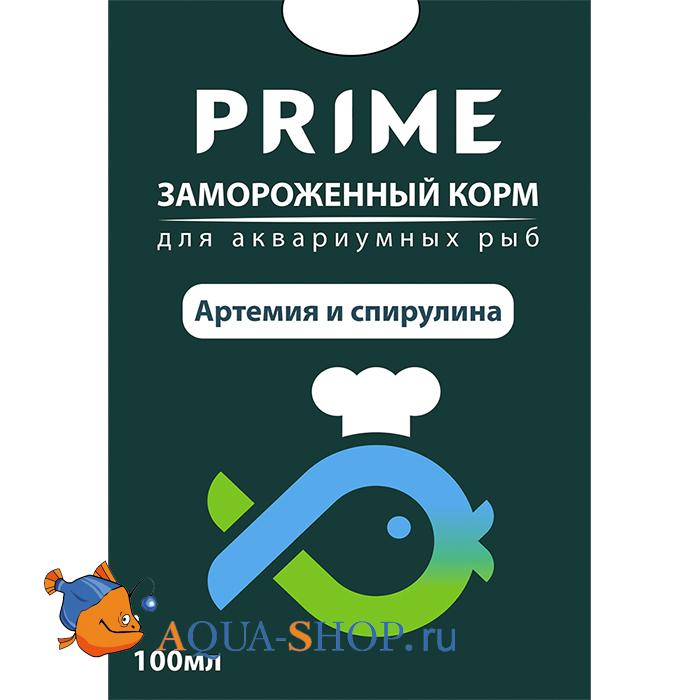 Артемия и спирулина замороженные  PRIME в блистере 100 мл