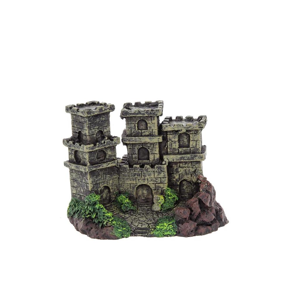 """Декорация пластиковая """"Замок с тремя башнями"""" 120х80х85мм"""