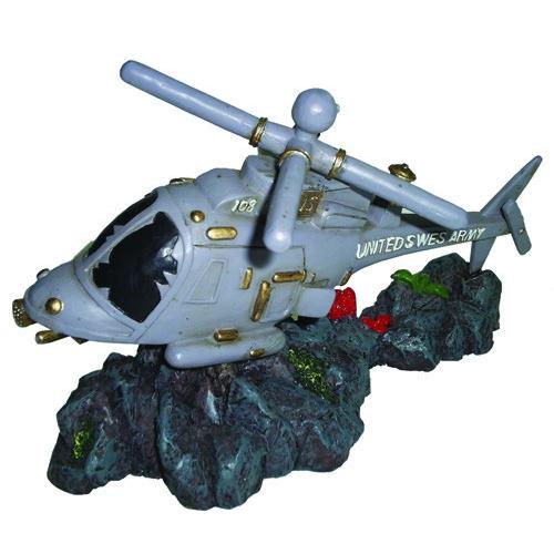 """Декорация пластиковая """"Затонувший вертолет"""" 175х80х110мм"""