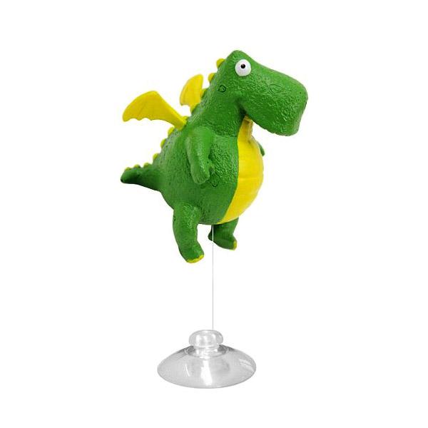 """Декорация пластиковая PRIME """"Зелёный дракончик"""" (игрушка-поплавок) 8*6,5*8,5 см"""