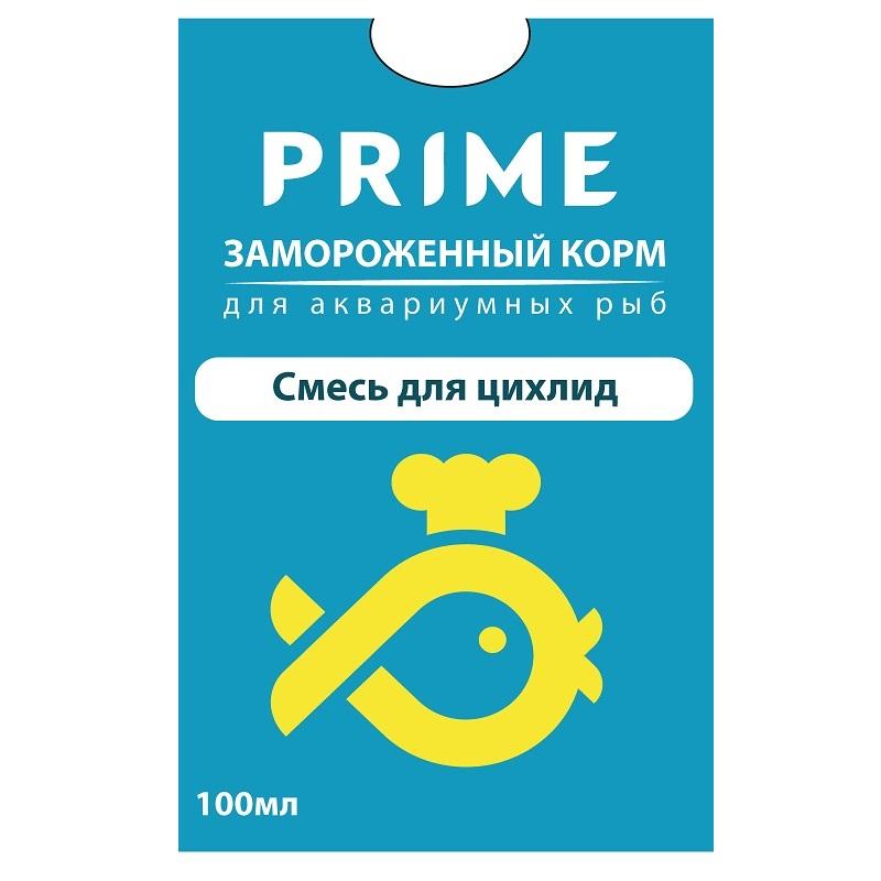 Смесь для цихлид замороженный в блистере PRIME 100мл