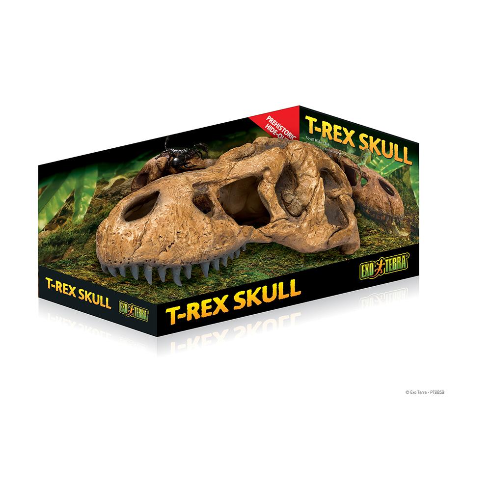 Укрытие-декор для геккона Hagen EXO TERRA Череп тираннозавра Рекса для террариума