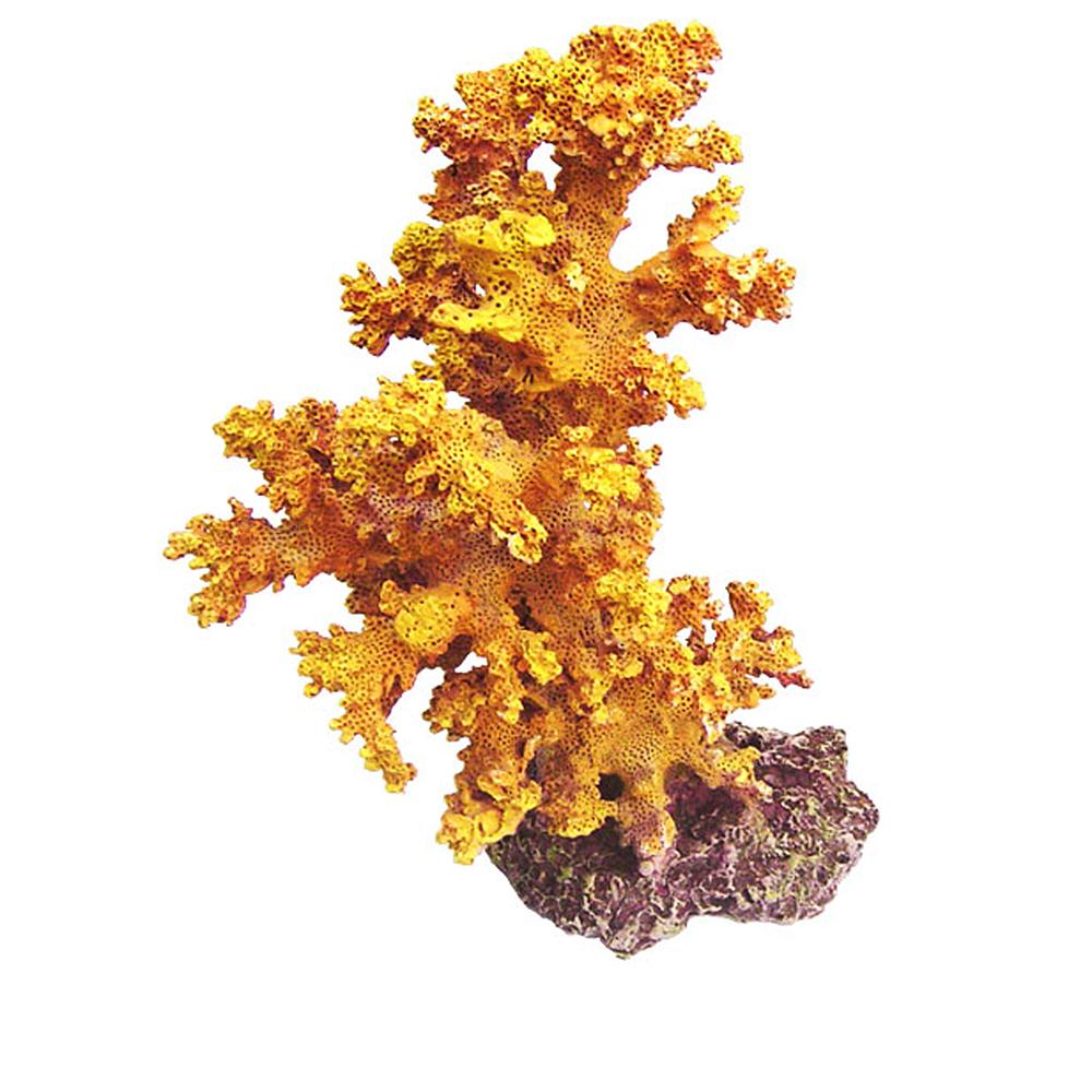 Коралл пластиковый REPLICA LIVE CORAL L120 x W120 x H180мм желтый