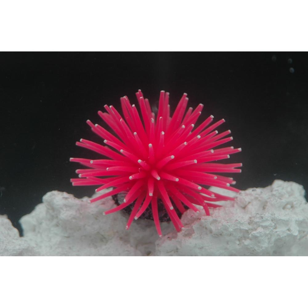 Коралл силиконовый на керамической основе, пурпурный 4.5х4.5х4см