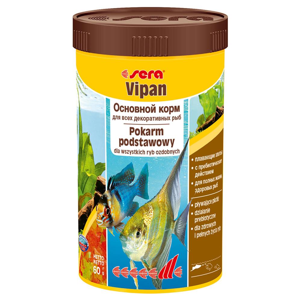 Корм Sera для рыб VIPAN хлопья 250мл/60г