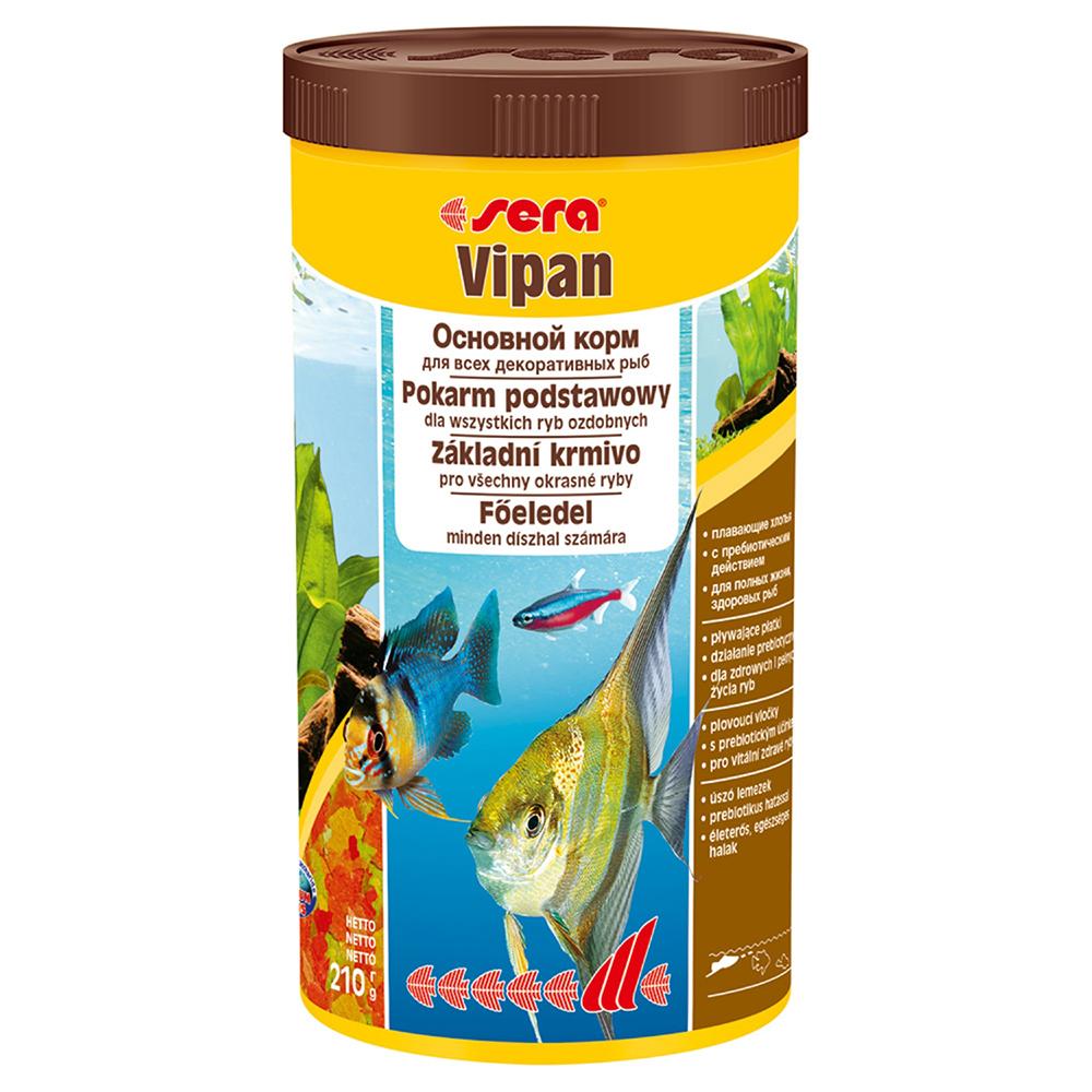 Корм Sera для рыб VIPAN хлопья 1000мл/210г