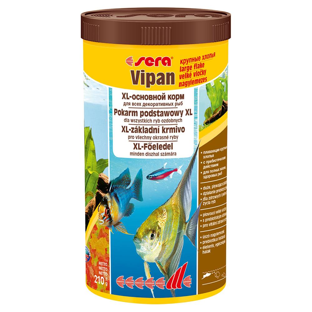 Корм Sera для рыб VIPAN хлопья бол 1000мл