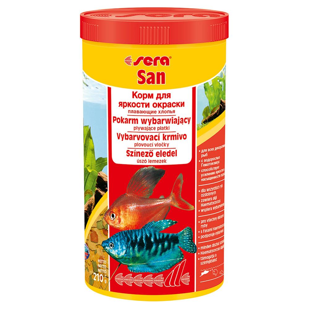 Корм Sera для рыб SAN хлопья для окраса 1000мл/210г