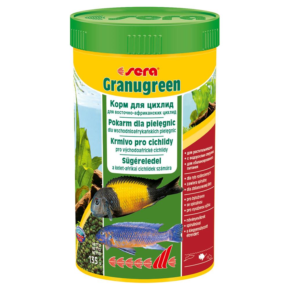 Корм Sera для рыб GRANUGREEN 250мл