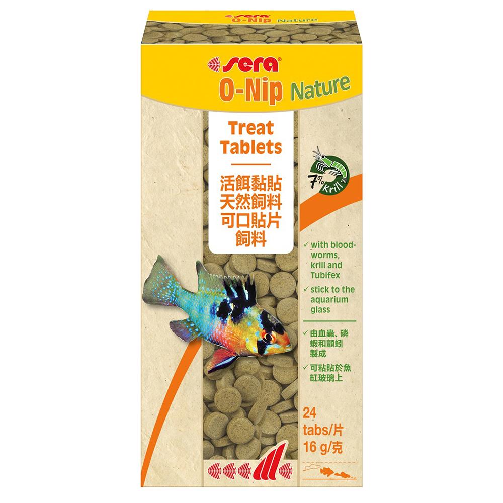 Корм SERA для рыб O-Nip таблетки приклеивающиеся к стеклу 24шт/16г