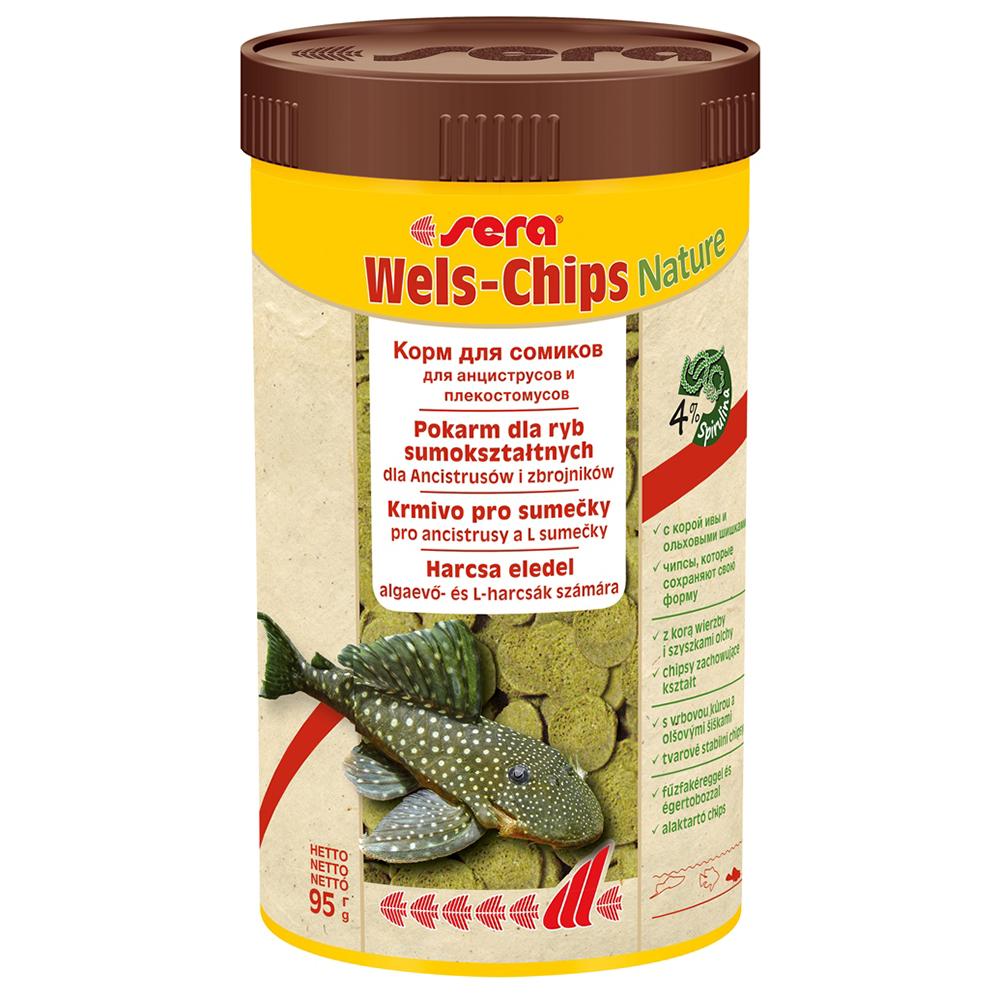 Корм Sera для сомов Wels-Chips 250мл