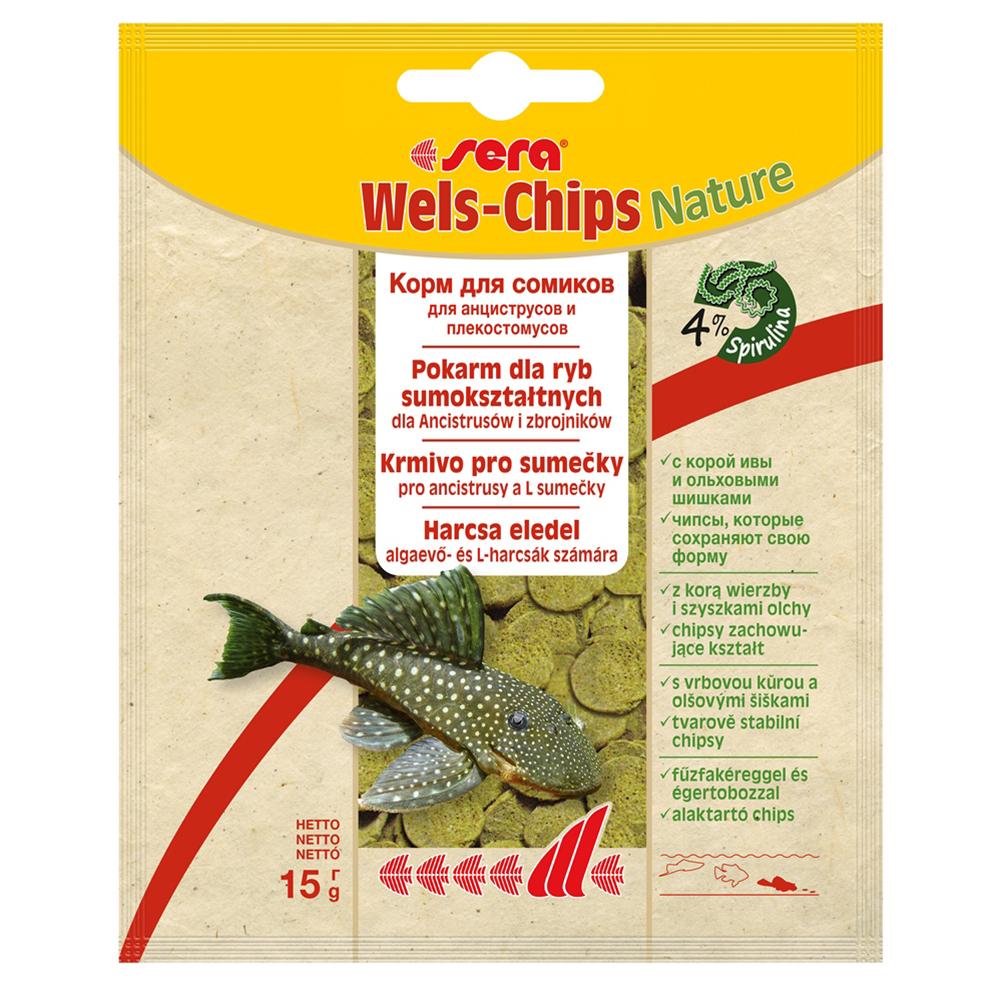 Корм Sera для сомов Wels-Chips 15 г (пакет)