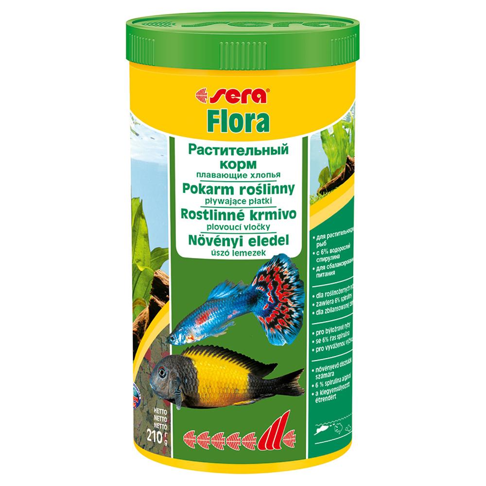 Корм Sera для рыб FLORA хлопья 1000мл