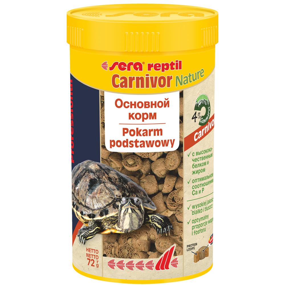 Корм для рептилий Sera Reptil Professional Carnivor 250мл