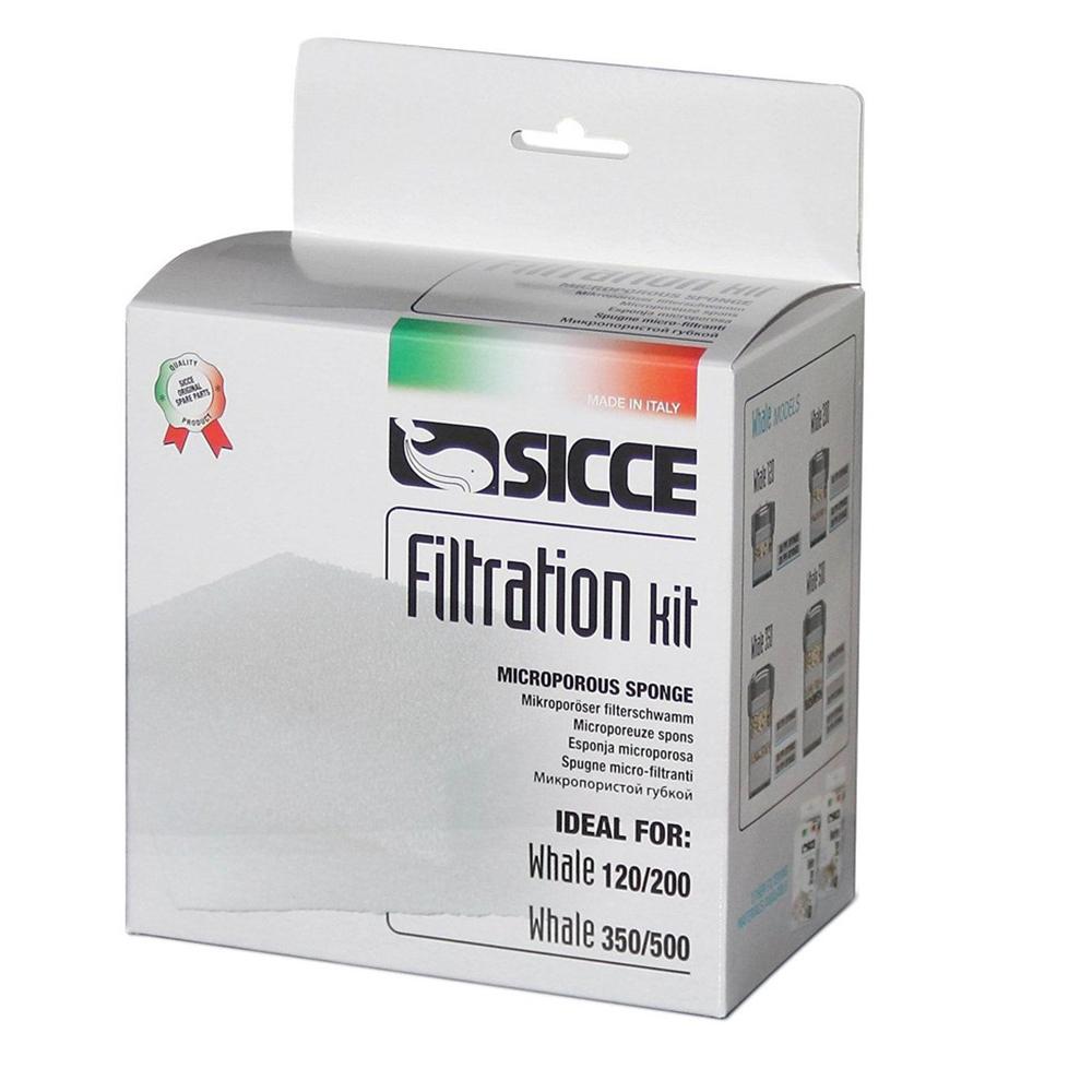 Фильтрующие губки Sicce для внешнего фильтра WHALE 120-200 4 шт