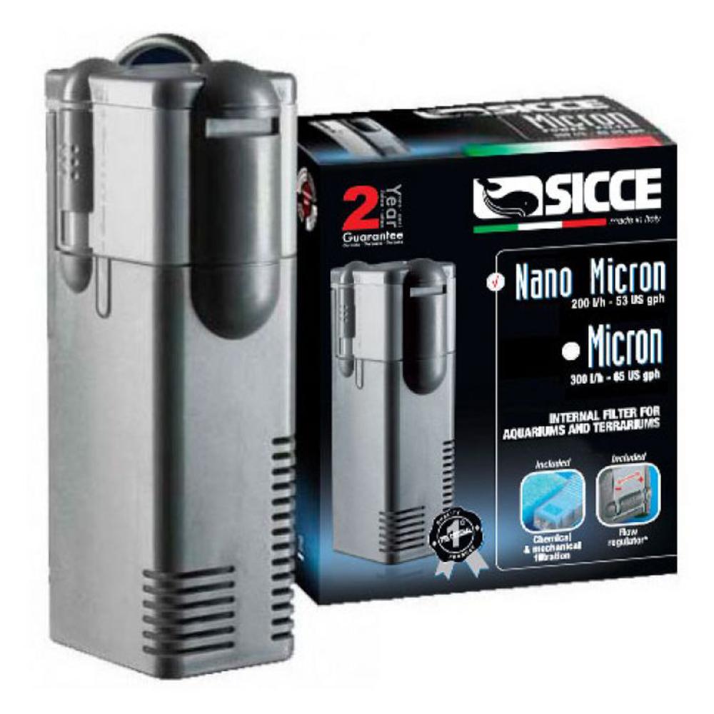 Фильтр внутренний SICCE MICRON NANO, 200 л/ч  для аквариумов до 50 л