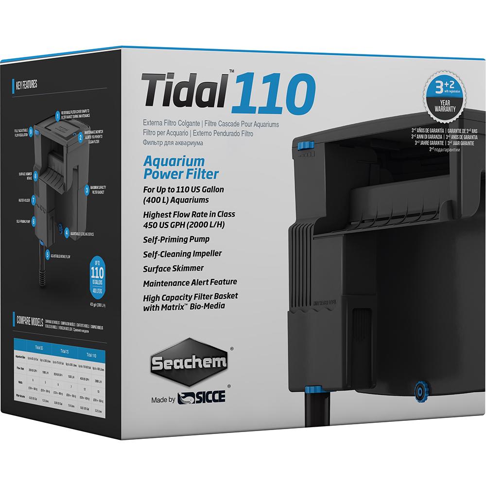 Фильтр рюкзачный Seachem Tidal 110, 2025 л/ч для аквариума до 500л