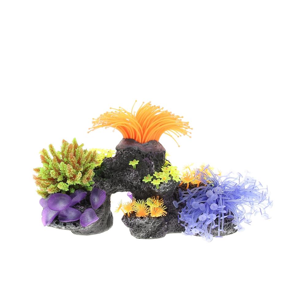Композиция из кораллов пластик+силикон 30х12х22см