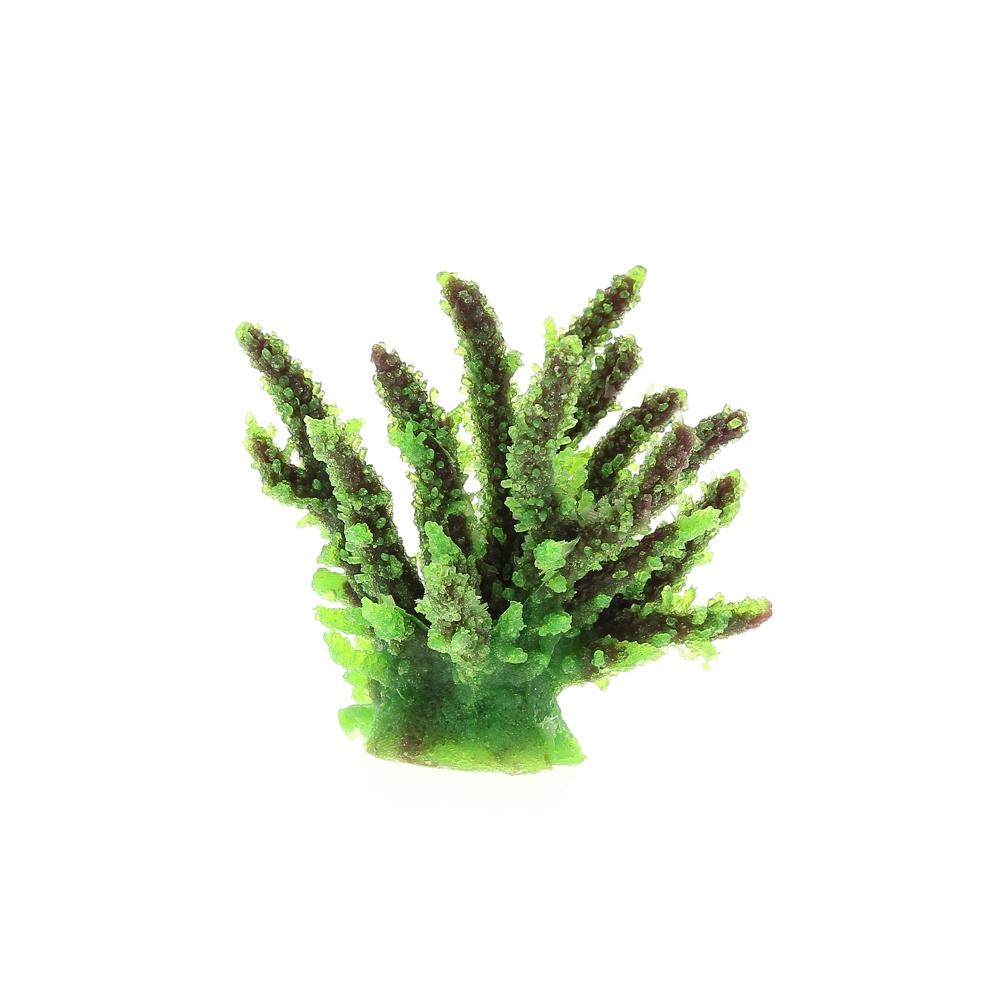 Коралл искусственный 12,6x10,7x11см зеленый