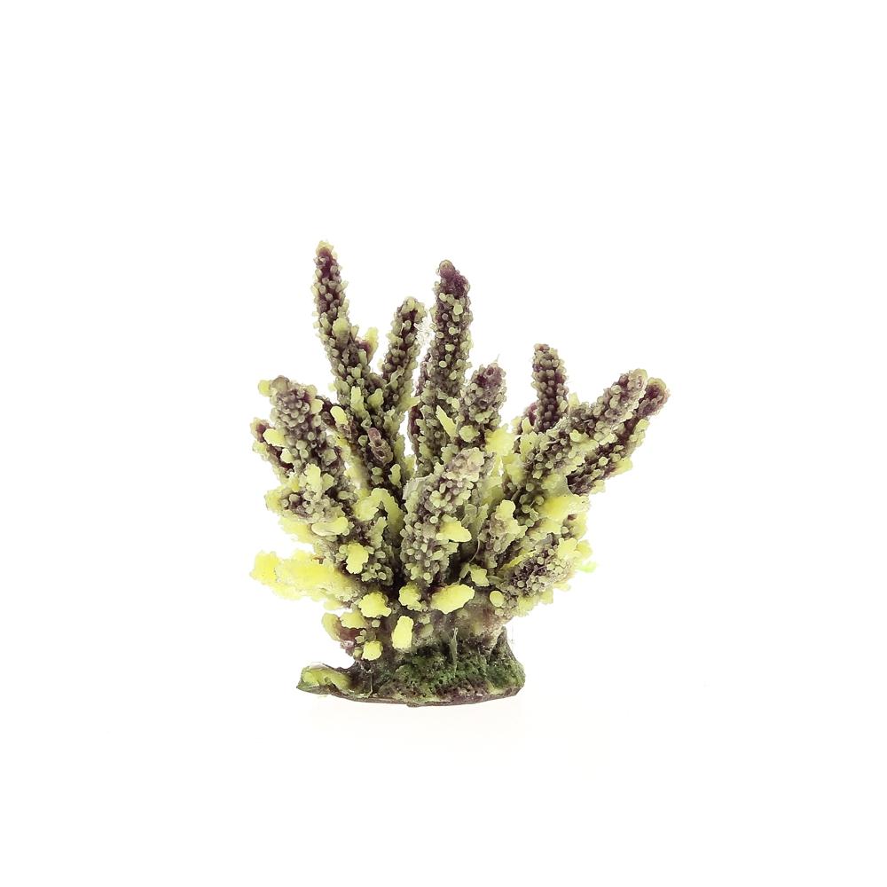 Коралл искусственный 12,6*10,7*11 см желто-коричневый