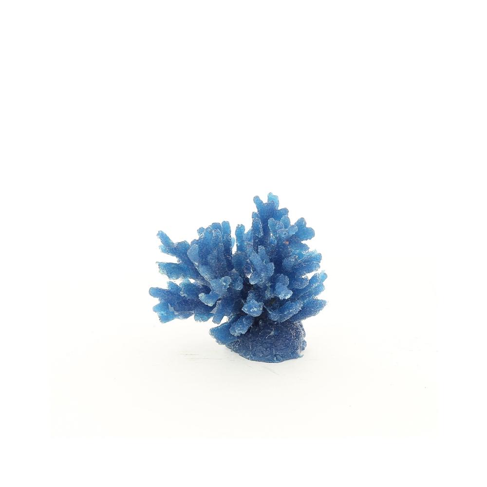 Коралл пластиковый синий, средний 8х8х6,5см