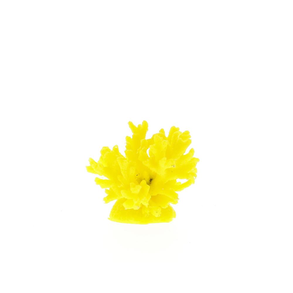 Коралл пластиковый желтый 8х8х6.5с