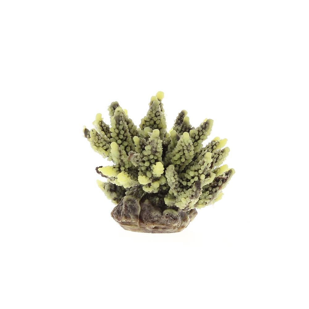 Коралл пластиковый желто-коричневый 11,5x10x9см