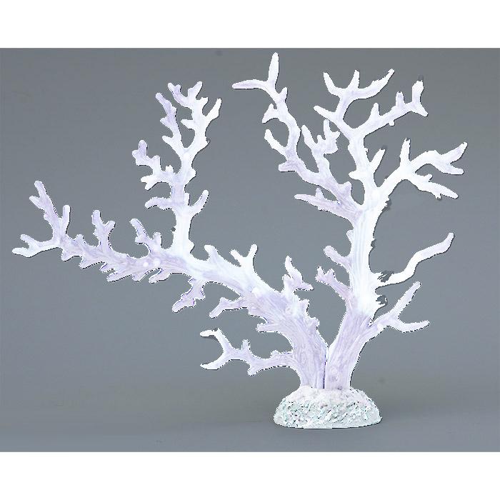 Коралл пластиковый белый с перламутровым 34х7х26см (SH9106SWPU)
