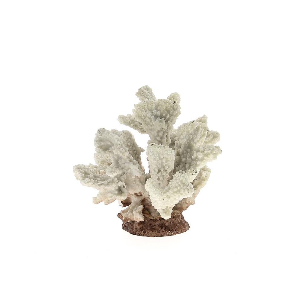 Композиция из кораллов пластиковая белая 13.5*12*11.5 см
