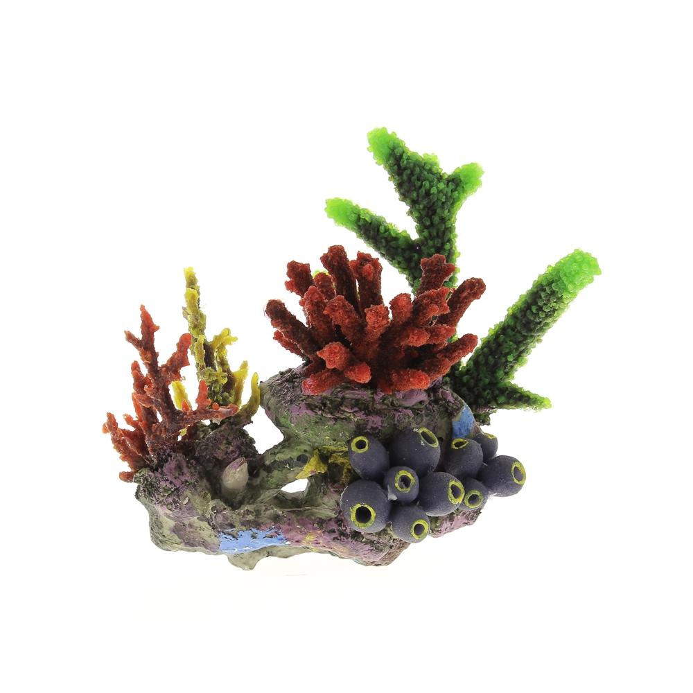 Композиция из кораллов пластик+силикон 24х20х26см-1