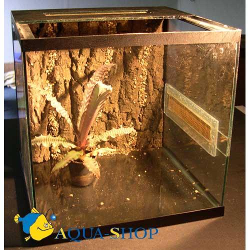 Террариум для пауков 30*30*30 см с корой.