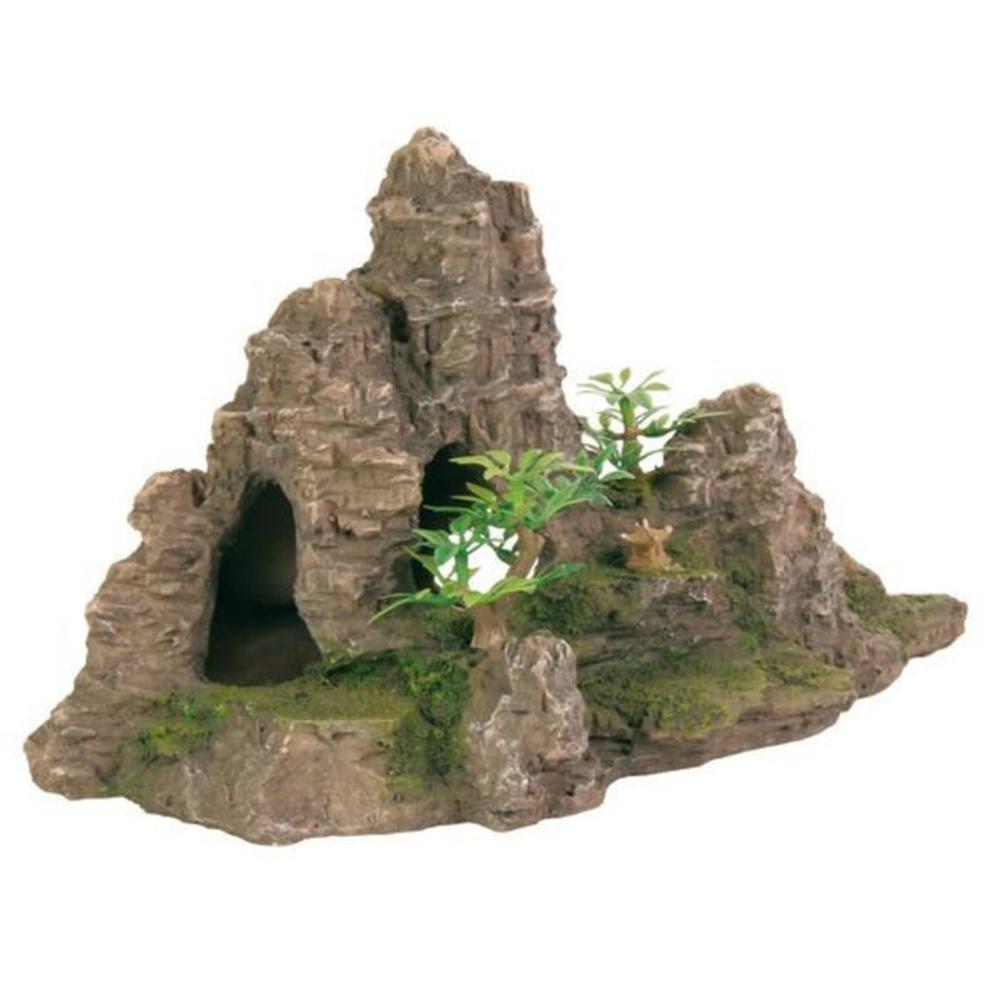 Грот TRIXIE Скала с пещерой с растениями пластиковый 22см